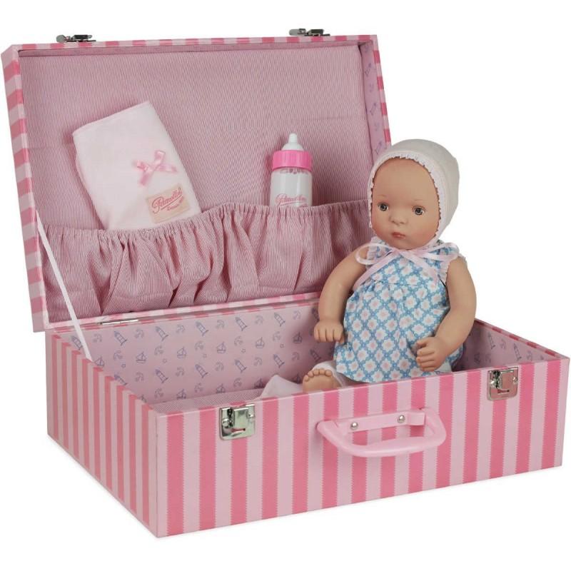 Lalka bobas dla dzieci Lilly 35cm w walizce, Petitcollin