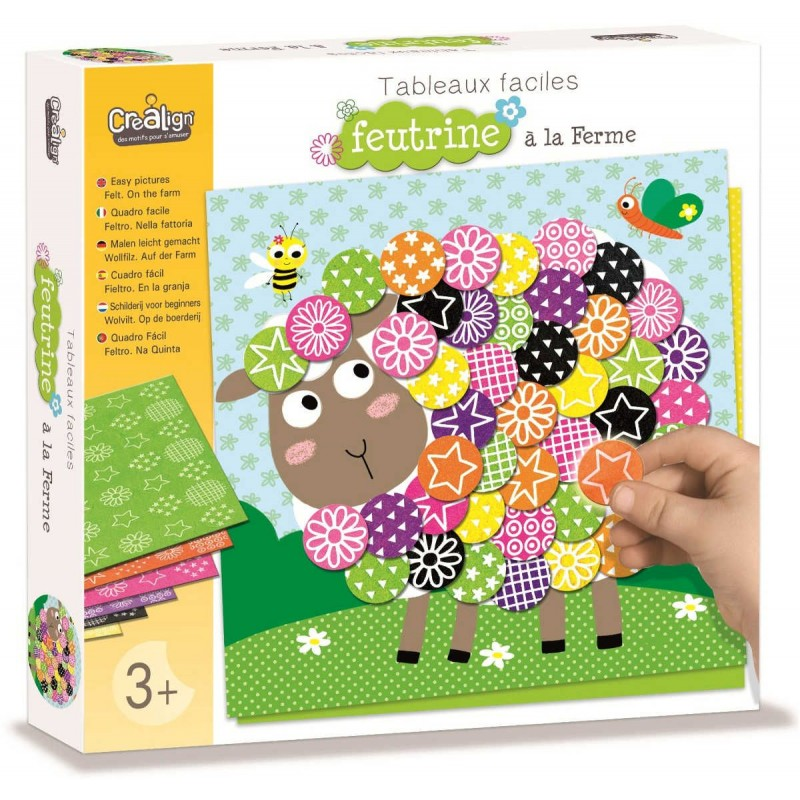 Obrazy filcowe Farma zabawka plastyczna, Crea Lign'