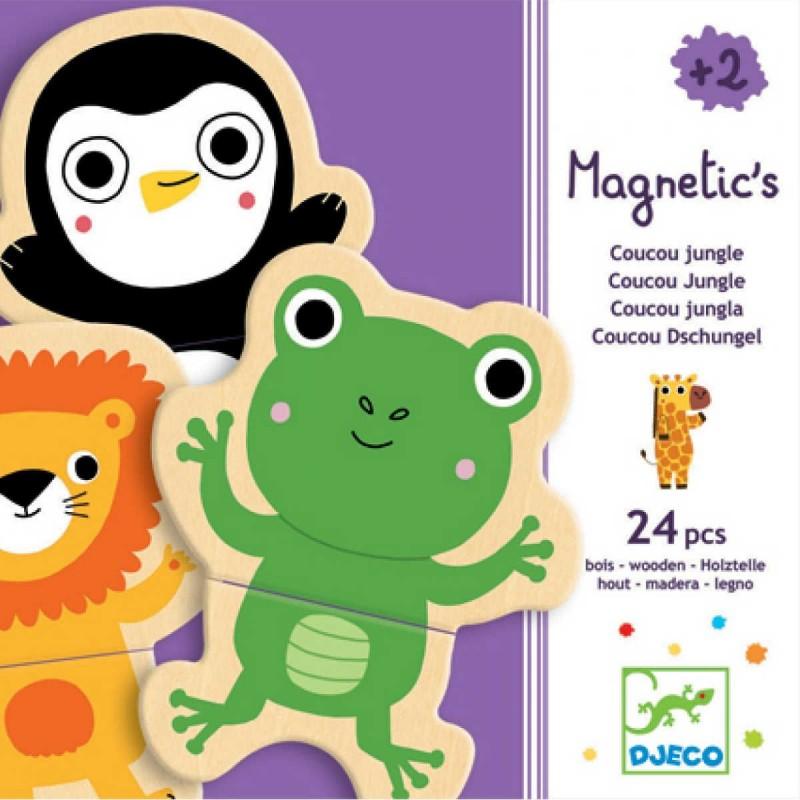 Djeco puzzle magnetyczne Akuku układanki 2 elementy
