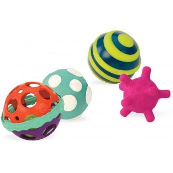 B.Toys 4 piłki sensoryczne dla niemowląt Ball-a-balloos