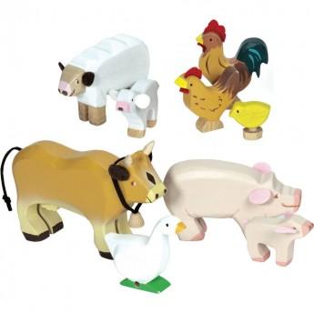Klocki zwierzęta drewniane, Le Toy Van