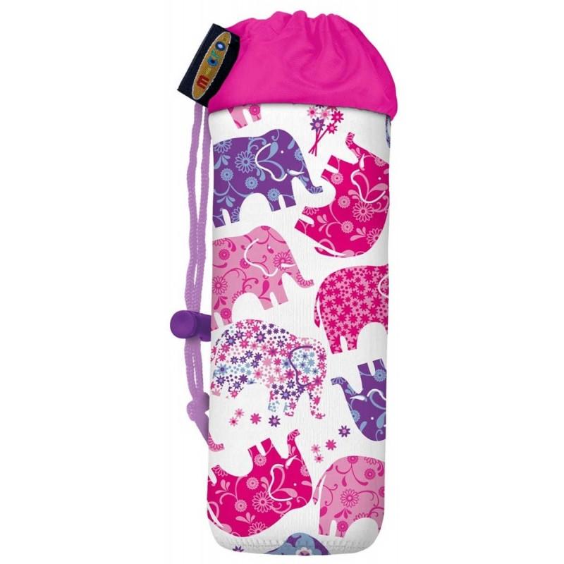 Torebka do hulajnogi na bidon różowe słonie, Micro Mobility