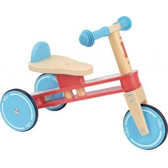 Rowerek trójkołowy drewniany, prezent na roczek, Vilac