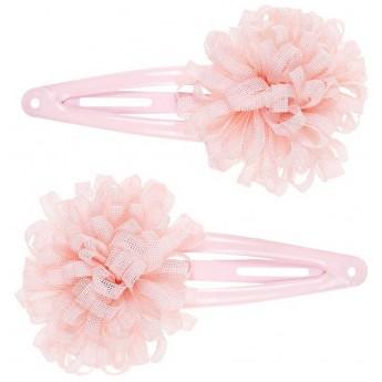 Spinki do włosów z kwiatem dla dziewczyn Cecile 2 sztuki różowe, Souza!