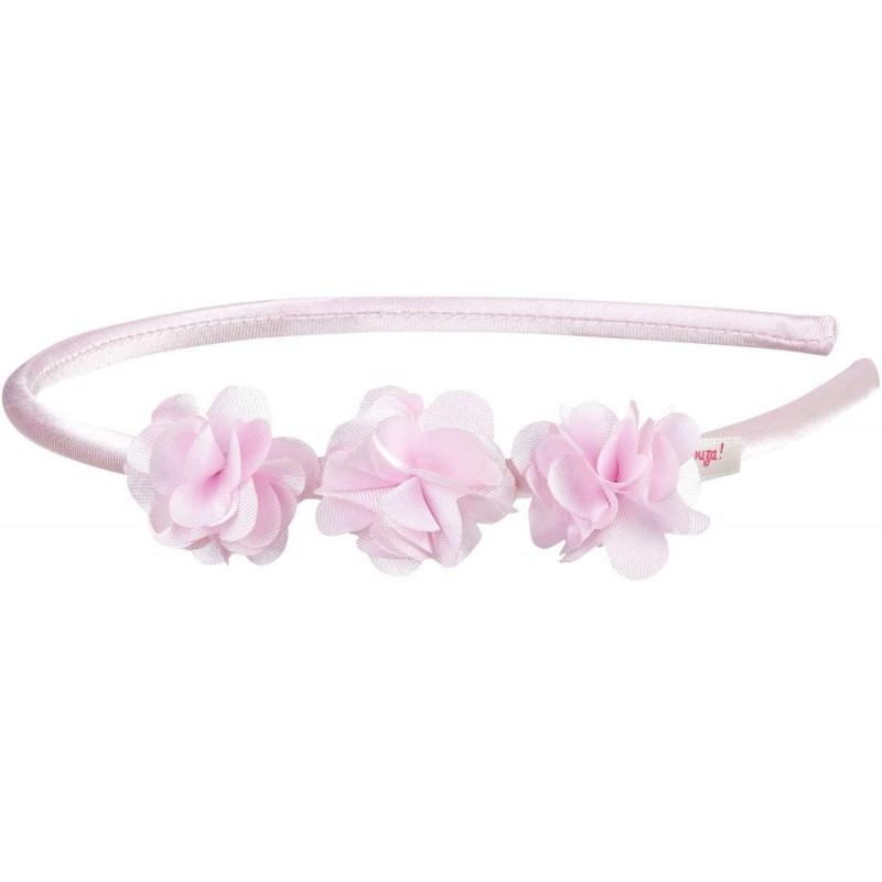Opaska do włosów różowa z kwiatami dla dziewczyn Mace, Souza!