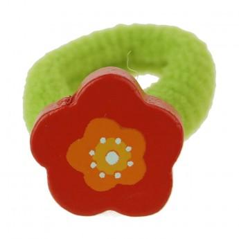 Gumka do włosów dla dzieci Czerwony Kwiat, Vilac