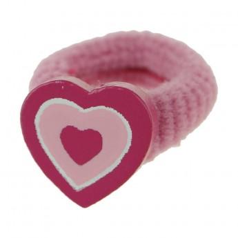 Gumka do włosów dla dzieci różowa z serduszkiem, Vilac