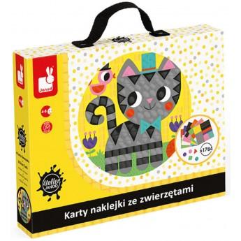 Janod Mozaiki z naklejek Zwierzęta zabawka plastyczna 4+