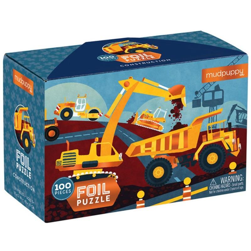 Mudpuppy Puzzle z błyszczącą folią Budowa 100 elementów 3+, Mudpuppy