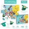 Mudpuppy Puzzle Mapa Europy z elementami w kształcie państw 5+, Mudpuppy