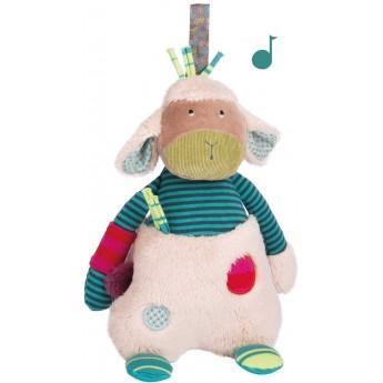 Pozytywka pluszowa dla niemowląt Owieczka, Moulin Roty