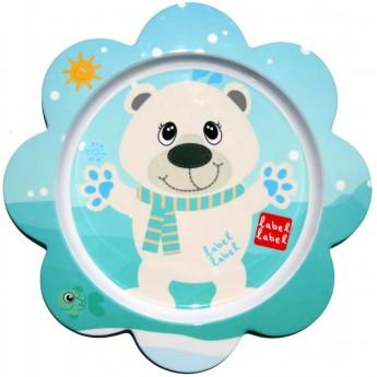 Talerz dla niemowląt Miś Polarny, Label Label
