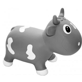 Skoczek gumowy dla dzieci 1+ Krówka Bella Szara, KidZZFarm