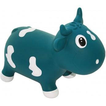 Skoczek gumowy dla dzieci 1+ Krówka Bella Niebieska, KidZZFarm