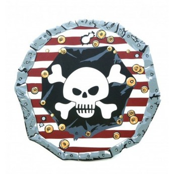 Tarcza pirata czerwona zabawka piankowa, Liontouch