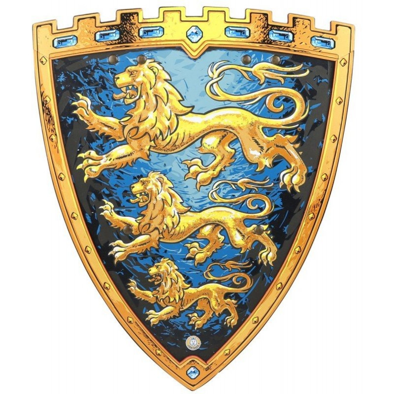 Tarcza rycerza niebiesko-złota Triple Lion, Liontouch