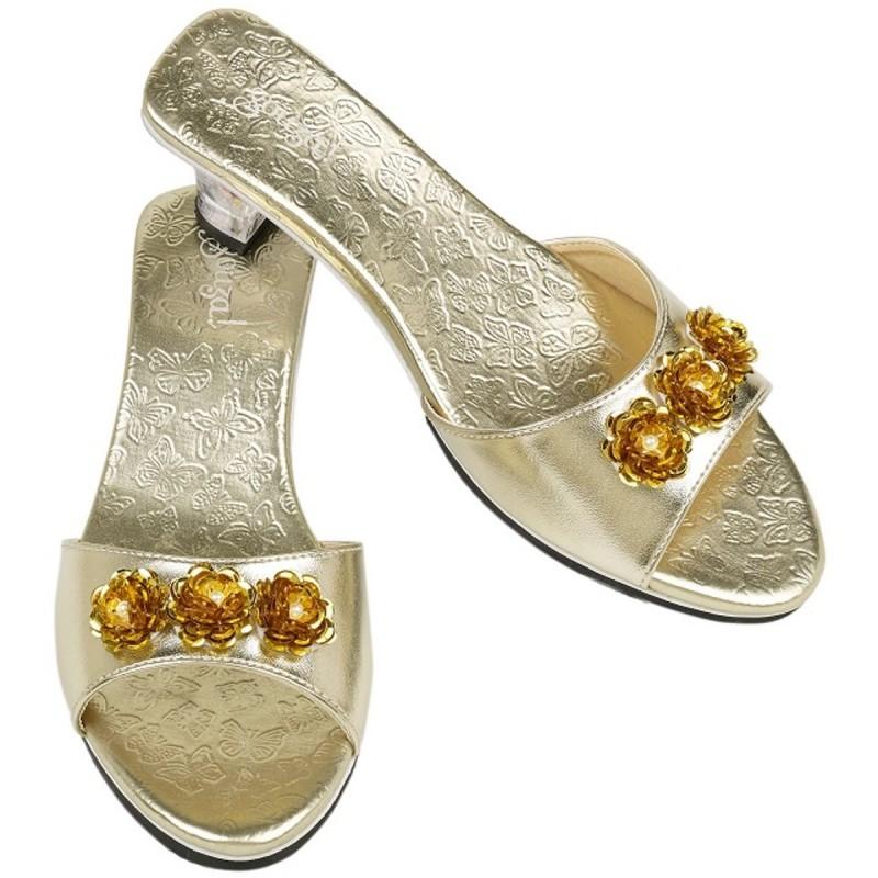 Buty na obcasie dla dzieci Mariposa złote, Souza!