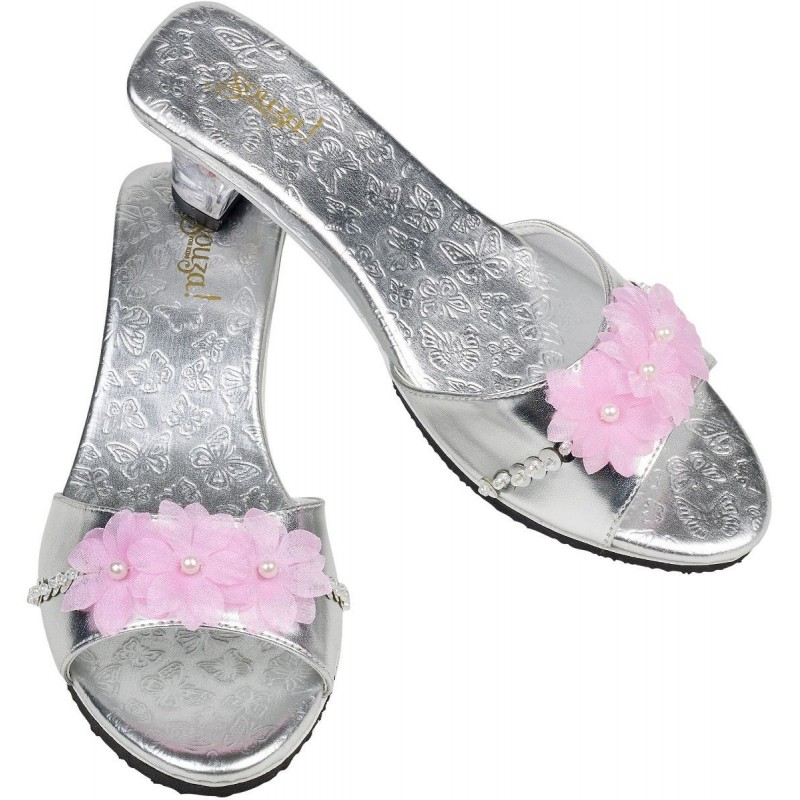 Buty na obcasie dla dzieci Naomi różowe z motylkami, Souza!