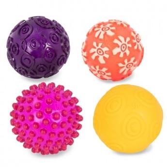 B.Toys 4 gumowe piłki sensoryczne dla niemowląt