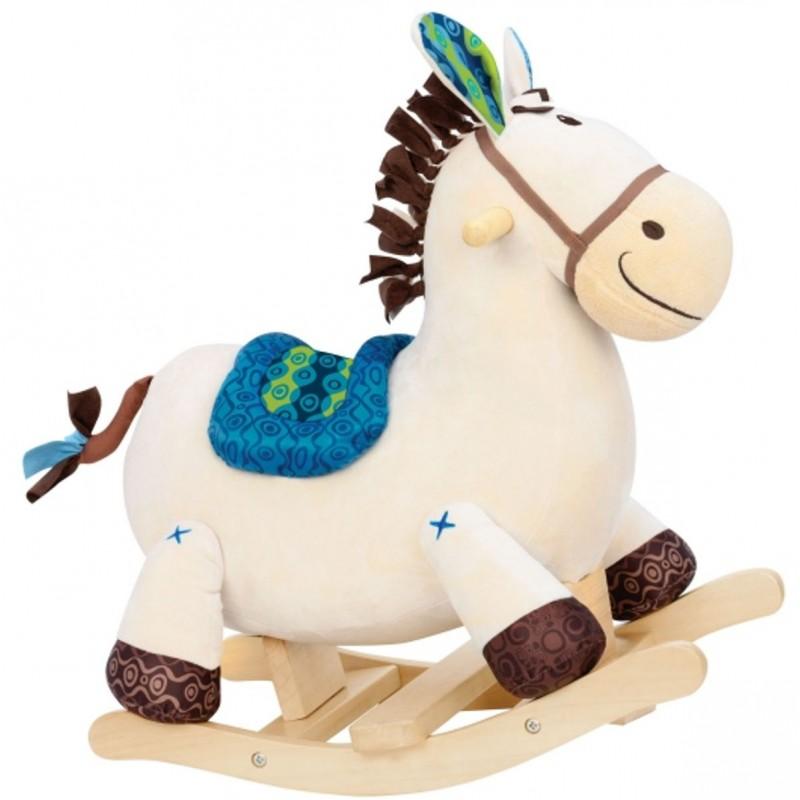 B.Toys Pluszowy koń na biegunach Rodeo Rocker Banjo