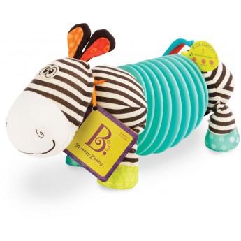B.Toys Zebra akordeon dla niemowląt Squeezy Zeeby