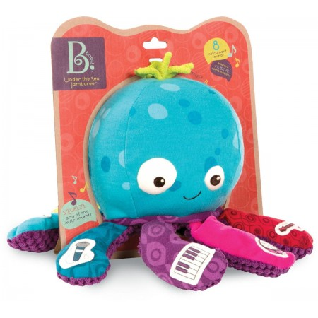 B.Toys Ośmiornica muzyczna pluszowa dla niemowląt