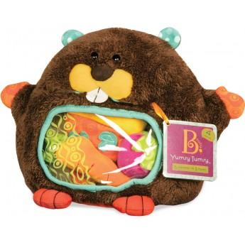 B.Toys Bóbr pluszowy zabawka sensoryczna pluszowa +6m