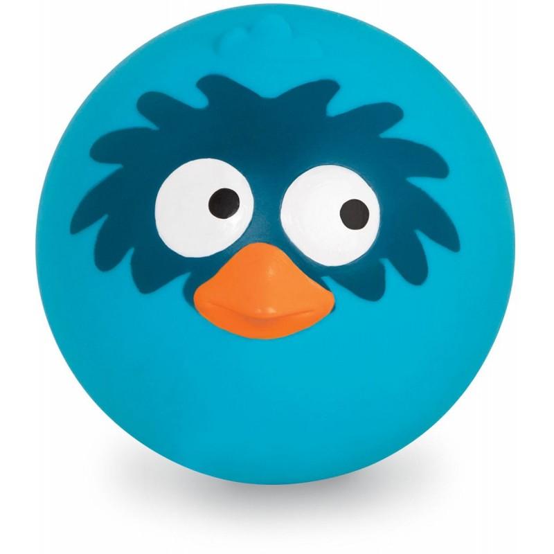 B.Toys Niebieska sprężysta piłka z odgłosami ptaka
