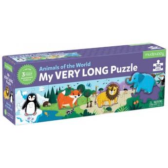 Mudpuppy Metrowe puzzle Zwierzęta Świata 30 elementów