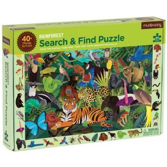 Mudpuppy Puzzle szukaj i znajdź Las tropikalny 64 elementy