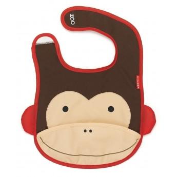 Skip Hop Śliniak z kieszonką Zoo Małpa dla dzieci
