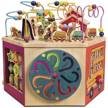 B.Toys Drewniana kostka edukacyjna XXL Youniversity