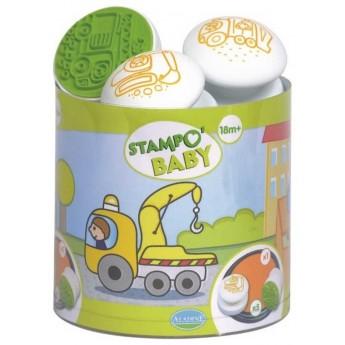 Aladine Stempelki 5szt Pojazdy dla dzieci +18m