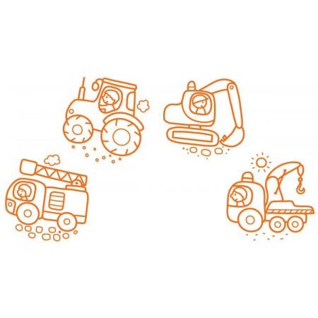 Aladine Stempelki 4szt Pojazdy dla dzieci +18m