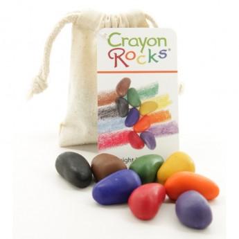 Kredki kamyczki 8 szt w bawełnianym woreczku, Crayon Rocks