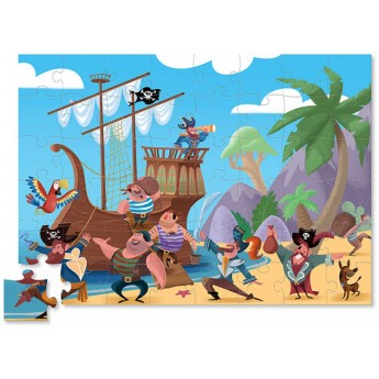 Skrzynia Piracka 48 elementów puzzle dla dzieci, Crocodile Creek