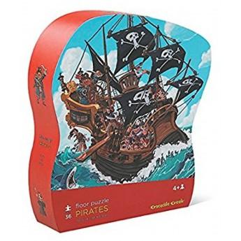 Statek piracki puzzle 36 el. w pudełku, Crocodile Creek