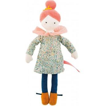 Lalka szmaciana Agata 26 cm dla dzieci od 12 mc, Moulin Roty