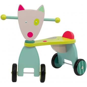 Jeździk drewniany Wilk dla dzieci , Moulin Roty
