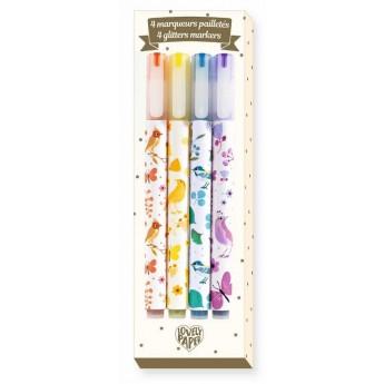 Djeco Brokatowe markery Tinou 4 sztuki dla dzieci