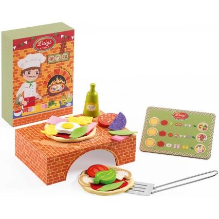 Djeco Pizzeria Luigi zabawka drewniana dla dzieci 3+