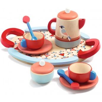 Djeco Drewniany zestaw do herbaty dla dzieci Tea Time