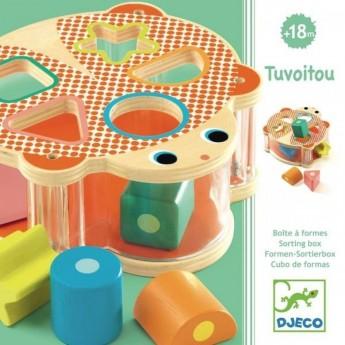Djeco Drewniany sorter Żółw zabawka dla dzieci +18 mc