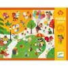 Djeco Puzzle dotykowe Wesołe Miasteczko 24 elementy