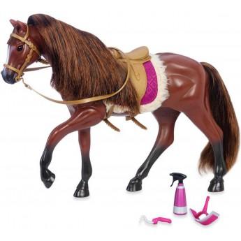 Ciemnobrązowy koń rasy Quarter Horse z akcesoriami, Lori