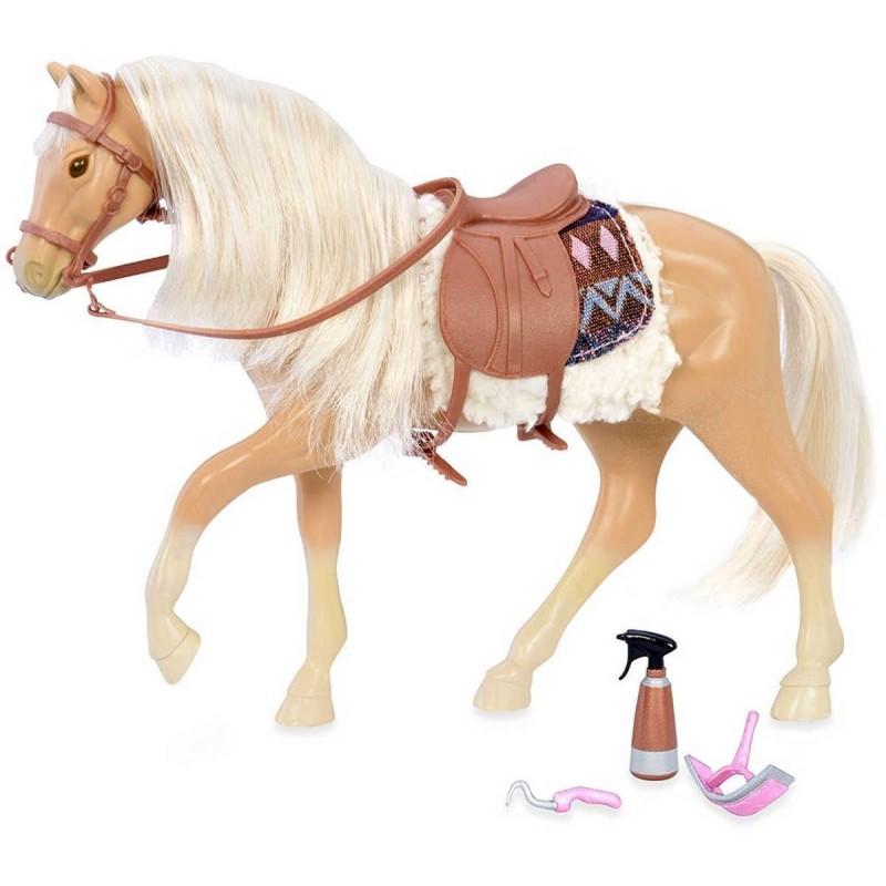 Jasnobrązowy koń rasy Quarter Horse z akcesoriami, Lori