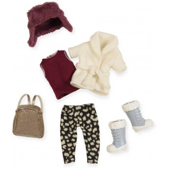 Ubranko dla lalek 15cm Warm hat, warm heart, Lori