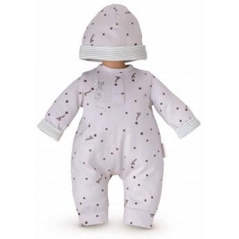 Ubranko dla lalki bobas 30 cm Grey Star piżama i czapka, Corolle