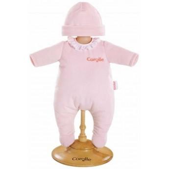 Ubranko dla lalki bobas 30 cm Różowa Piżamka i czapka, Corolle