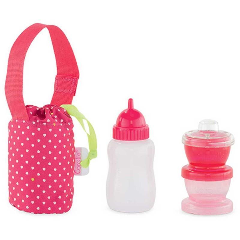 Zabawka butelka i pojemniki na jedzenie dla lalek, Corolle